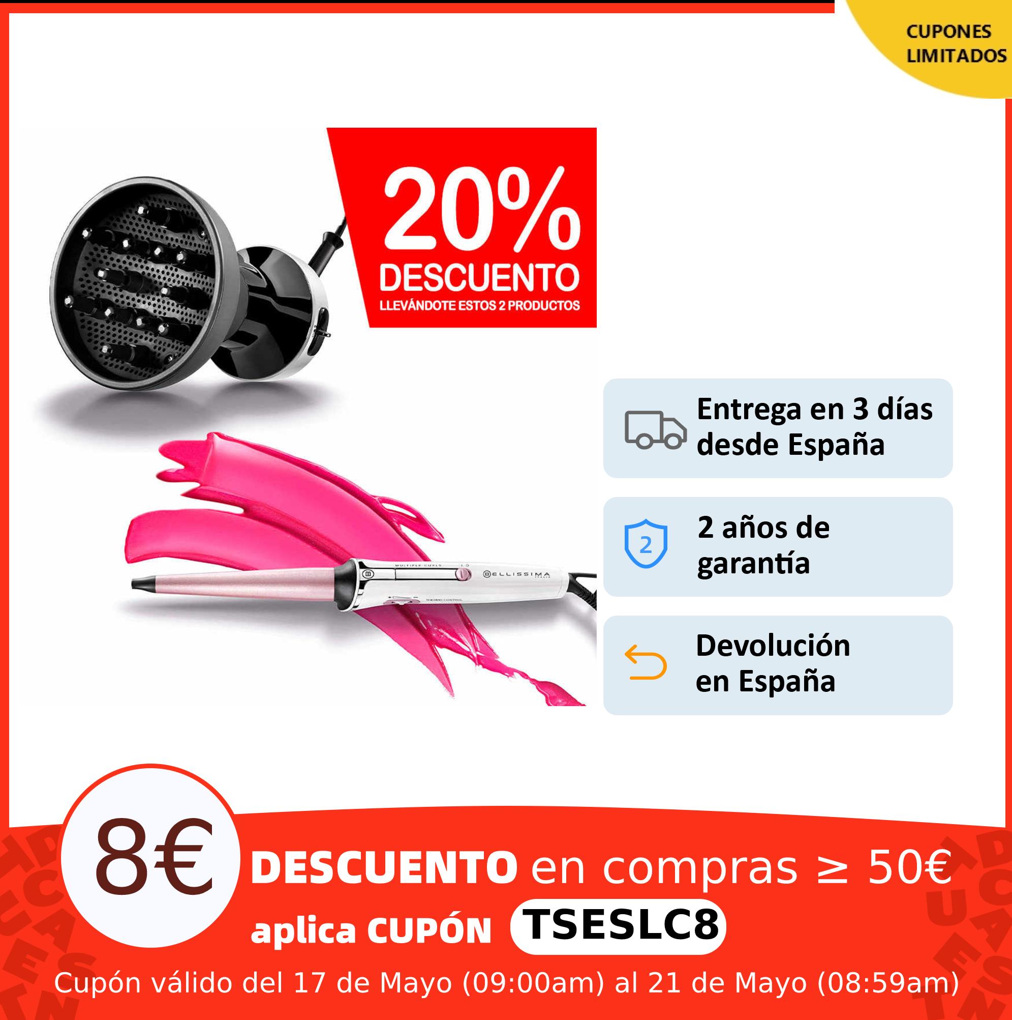 Bellissima Pack Secador Special Curl System DF1 1000 | Rizador de Pelo Cónico Para Acabado Natural, Sets de cuidado para el pelo|Sets de cuidado del cabello| - AliExpress