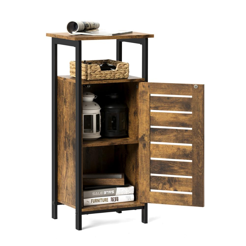 Bathroom Storage Cabinet Small Table With Shelf Rustic