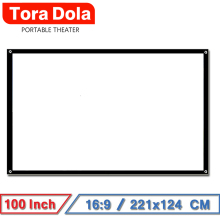 цена на TORA DOLA 100 inch 16:9 Portable Projector Screen ,White Screen for Home Theater Travel School And Office Support LED Projector