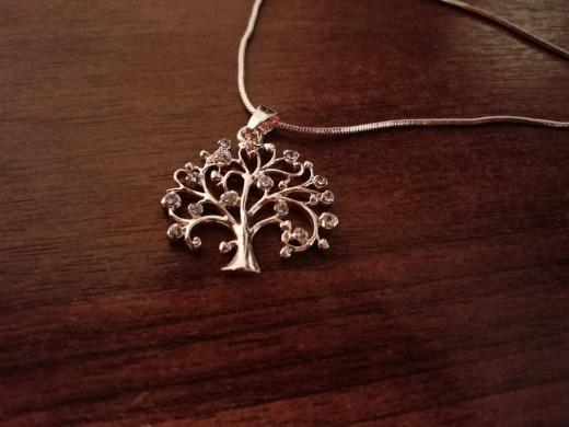 Collier arbre de vie or et Swarovski