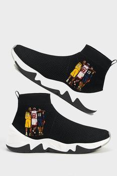Czarne skarpety form sportowe buty-czarne buty charakter buty skarpetki buty-codzienne buty tanie i dobre opinie nilart Chłopcy Baseball buty TR (pochodzenie)