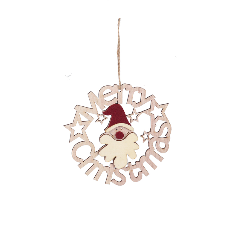 Wooden Pendants Ornaments 2019 Christmas Wood Craft Xmas Tree Ornament For Home New Year Navidad Christmas Party Decor Kids Gift in Pendant Drop Ornaments from Home Garden