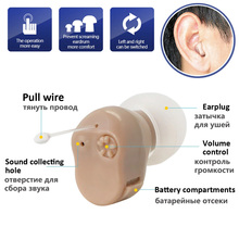 Micro Ear Hearing Aid Mini ITC Wireless For Elderly Right/Left Best Sound Amplifier Invisible Device