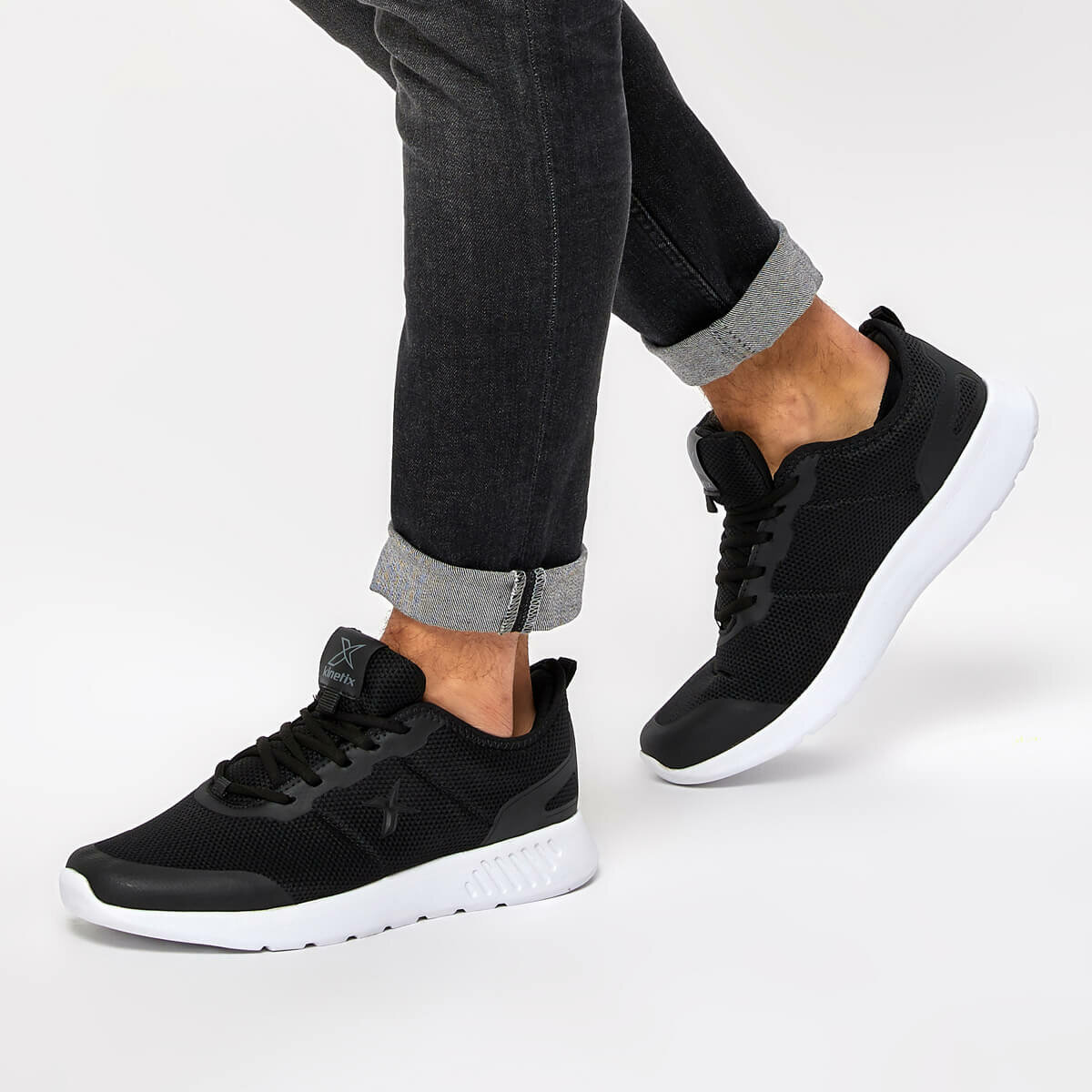 FLO LAZER M Black Men 'S Sneaker Shoes KINETIX