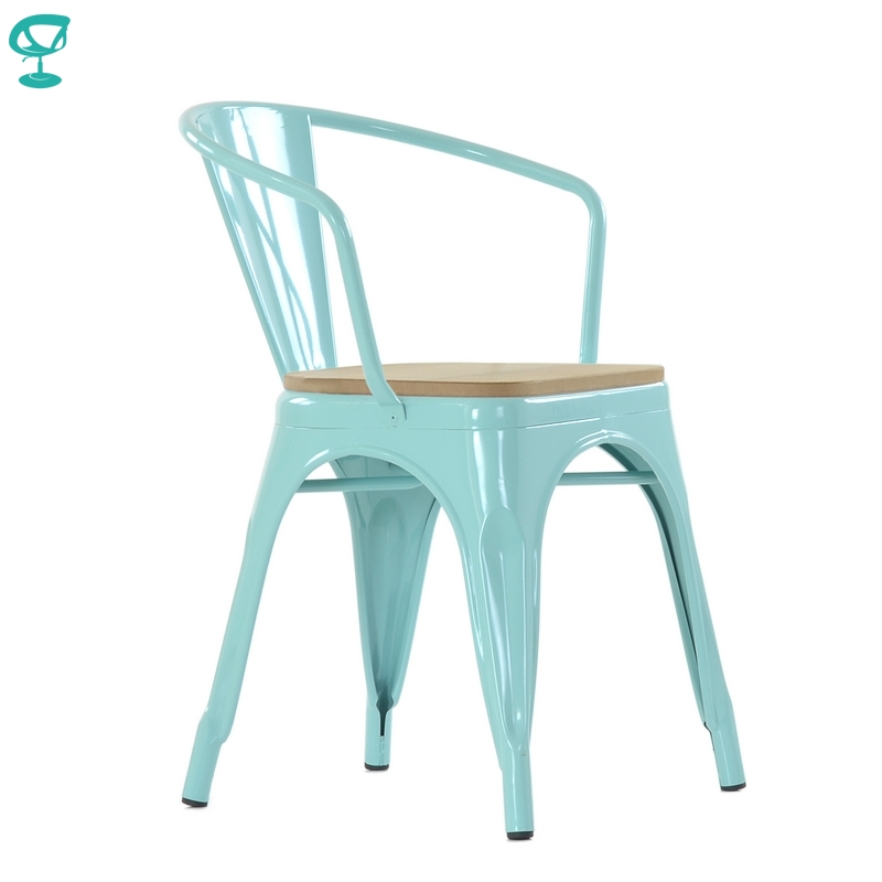 N245WoodRAL Barneo N-245 Metal Kitchen Interior Stool Chair For Street Cafe Chair Kitchen Furniture Free Shipping In Russia