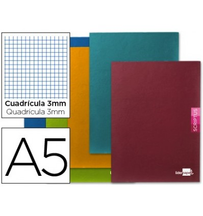 NOTEPAD LEADERPAPER SCRIPTUS A5 PLUS 48 SHEET 90G/M2 BOX 3MMCON MARGIN 5 Pcs