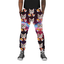 Joggers Men Pants Funny Trousers Casual Autumn Brand Pizza-Cat Printed Galaxy Dropship