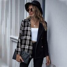 Модные блейзеры пальто для женщин Осень зима новинка Повседневный