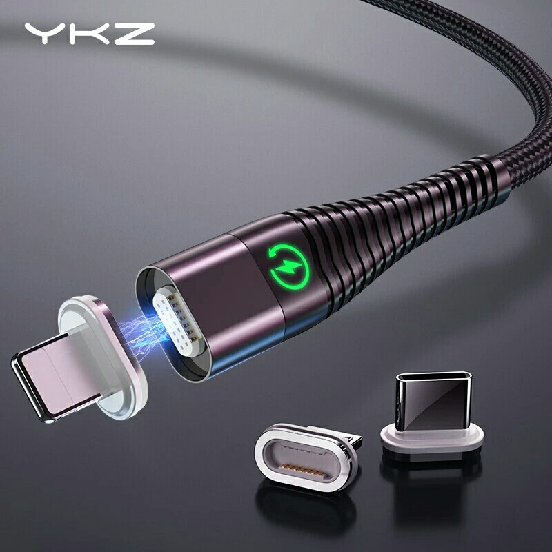 YKZ Magnetic Cable Micro Type C Cable LED Light Fast Charging Magnet USB C Cable for iphone Samsung Xiaomi Data Wire Cord 1m 2m-in Mobile Phone Cables from Cellphones & Telecommunications on AliExpress