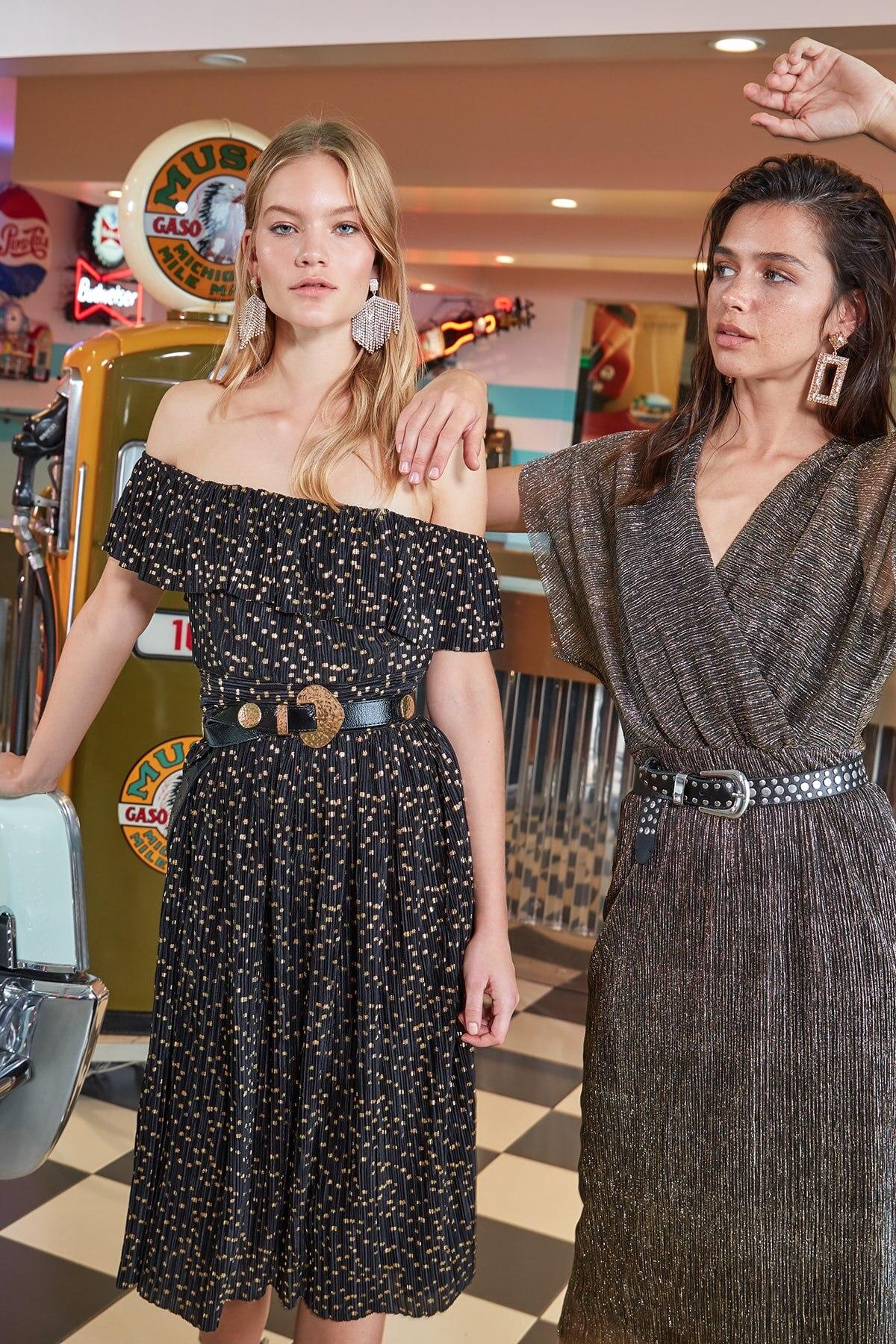 Trendyol Foil Printed Dress TPRAW20EL0852