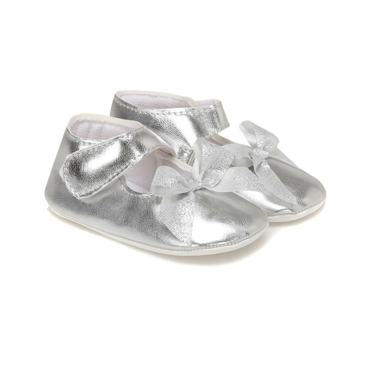 FLO 603 Silver Girl Children Shoes MINITTO