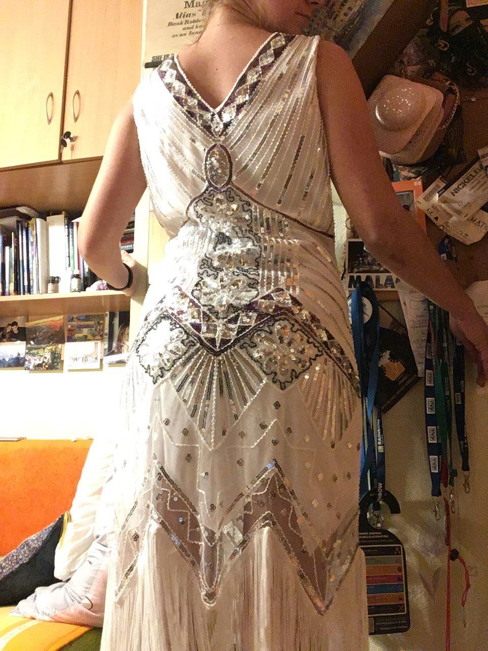 Women 1920 s Vintage Great Gatsby Dress Sequins Dress V-Neck Tassels Bodycon Beaded Party Dress Flapper Dresses Art Deco Double reviews №5 315597
