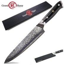 Damasco faca de chef vg10 aço damasco, japonês, kiritsuke, facas de cozinha, açougueiro, ferramentas de cozinha, caixa de presente