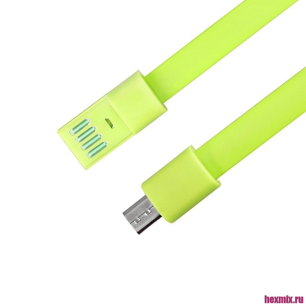 Bracelet USB To Micro USB Cable (Color-Green)