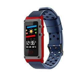 Quantifying bracelet leotec funny band blue-screen color 2.44cm - bt-multisport-notifications-ip67-bat.120mah-