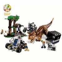 2018 New 75929 595pcs Jurassic World Carnotaurus Gyrosphere Escape Model Toys For Children Bela 10926Building Block Gift