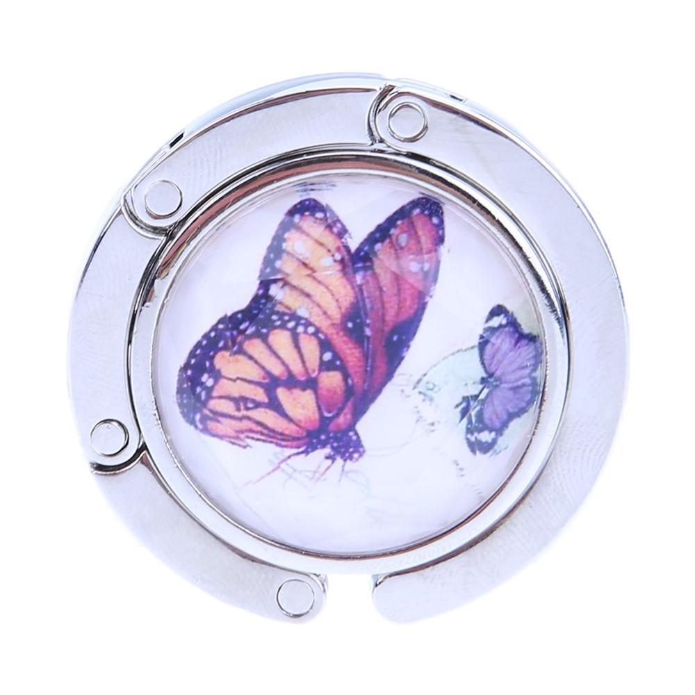 Dress Butterfly Pretty Girl Chinese Painting Table Hook Folding Bag Desk Hanger Foldable Holder