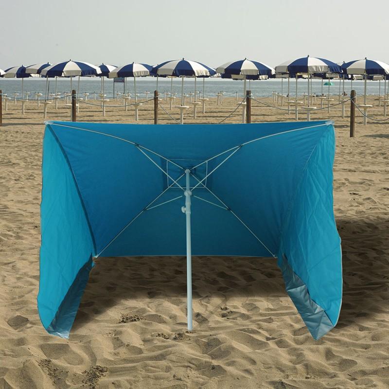 Beach Umbrella With Side Windproof 170x170 Cm.