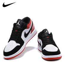 NEW NIKE Air Jordan 1 Low Cut Varsity Red White Retro AJ1 Basketball Shoes Men Breathable Sneakers Women Outdoor Sports Shoes