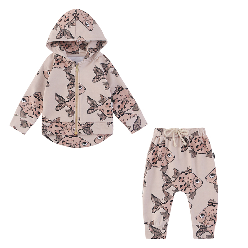TinyPeople Rex rabbit Baby Boys Clothes Autumn Suits fashionable Baby Girl Hooded Sports clothing Sets kid winter infant 2-piece