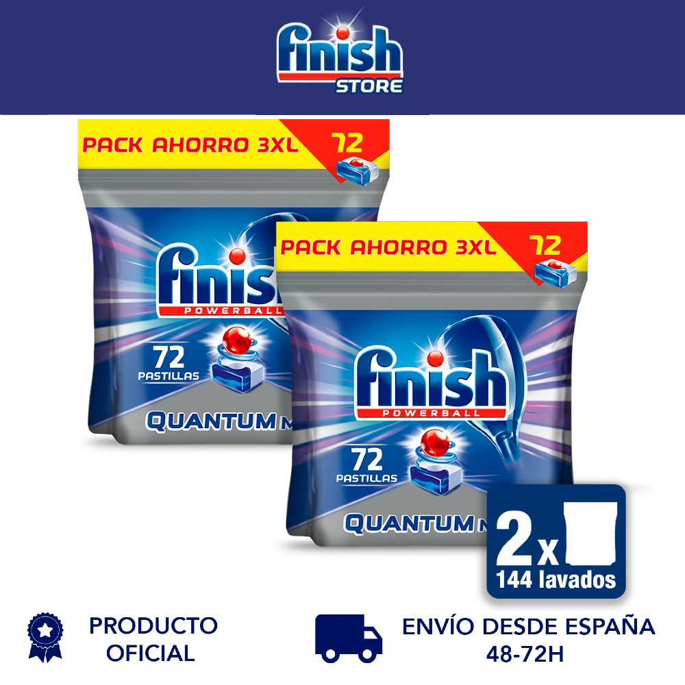 Полный Powerball Quantum, коврики для посудомоечной машины-2 упаковки x 72 - 144 таблеток