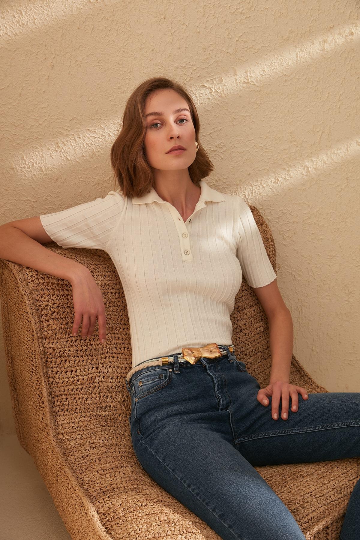 Trendyol Polo Collar Sweater Sweater TWOSS20BZ0112