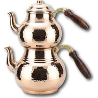 Türk çayı demliği arapça çaydanlık bakır demlik el yapımı çay seti geleneksel türk çay cezve su ısıtıcısı kazan