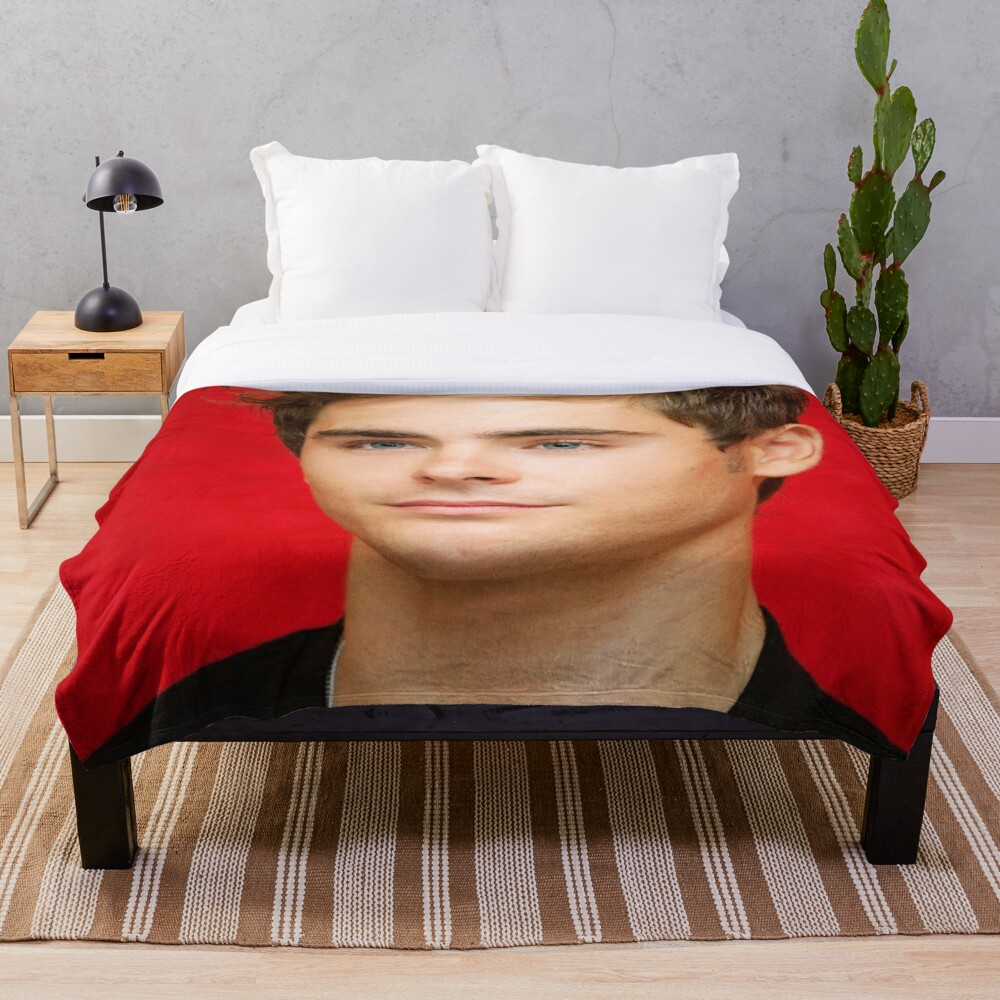 Cute Zac Throw Blanket Soft Sherpa Blanket Bed Sheet Single Knee Blanket Office Nap Blanket