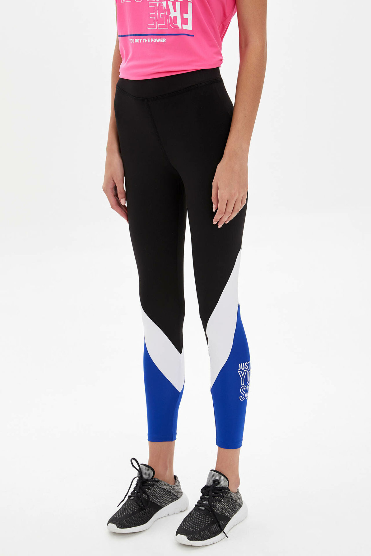 DeFacto Women Fashion High Waist Casual Women's Skinny Trousers Ladies Striped Sport Leggings Sweatpants - M0671AZ19AU