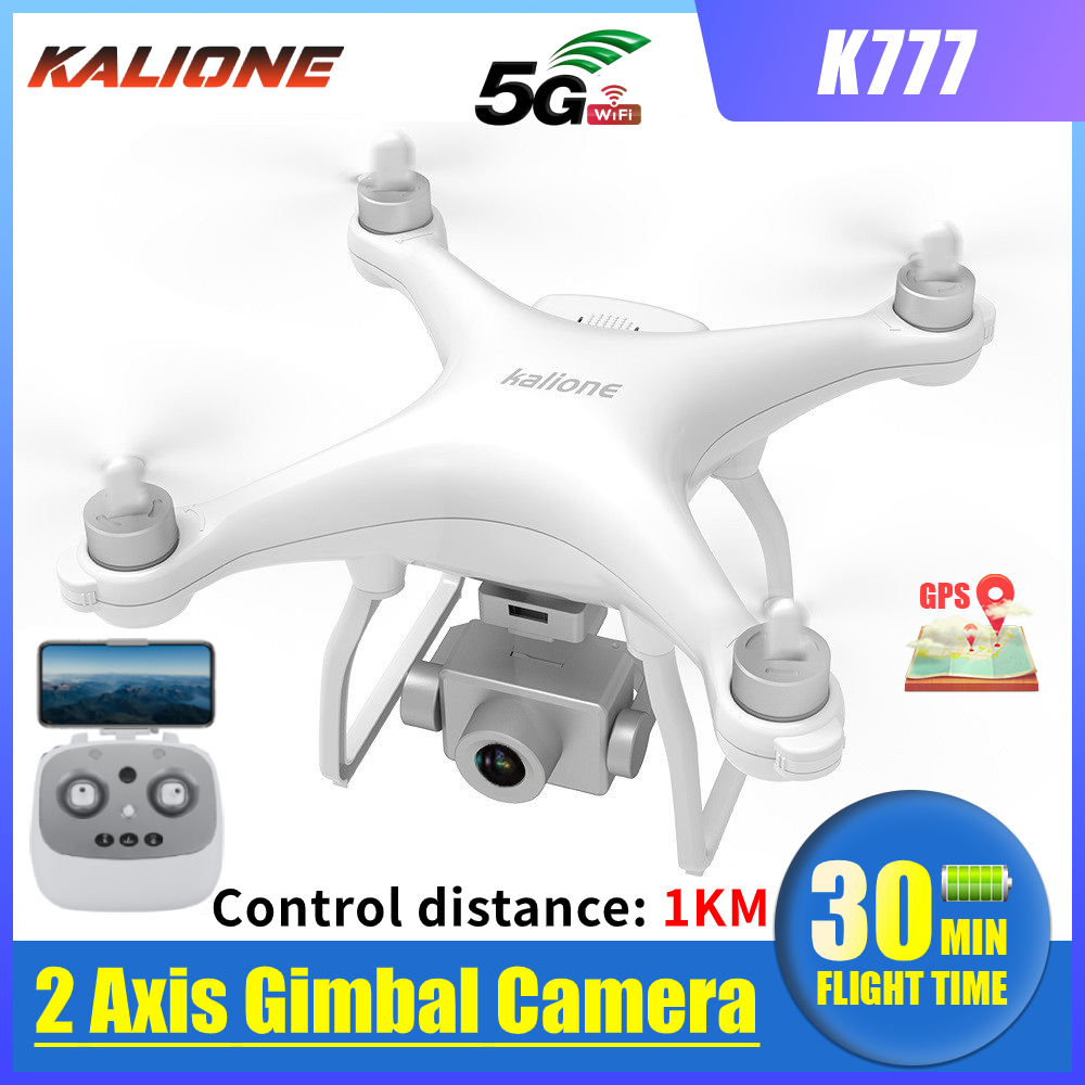 K777 Drone 4K GPS WiFi HD Camera Anti-Shake Gimbal Profissional RC Quadcopter Brushless Motor Drones 30mins 1KM VS X35 SG906 PRO(China)