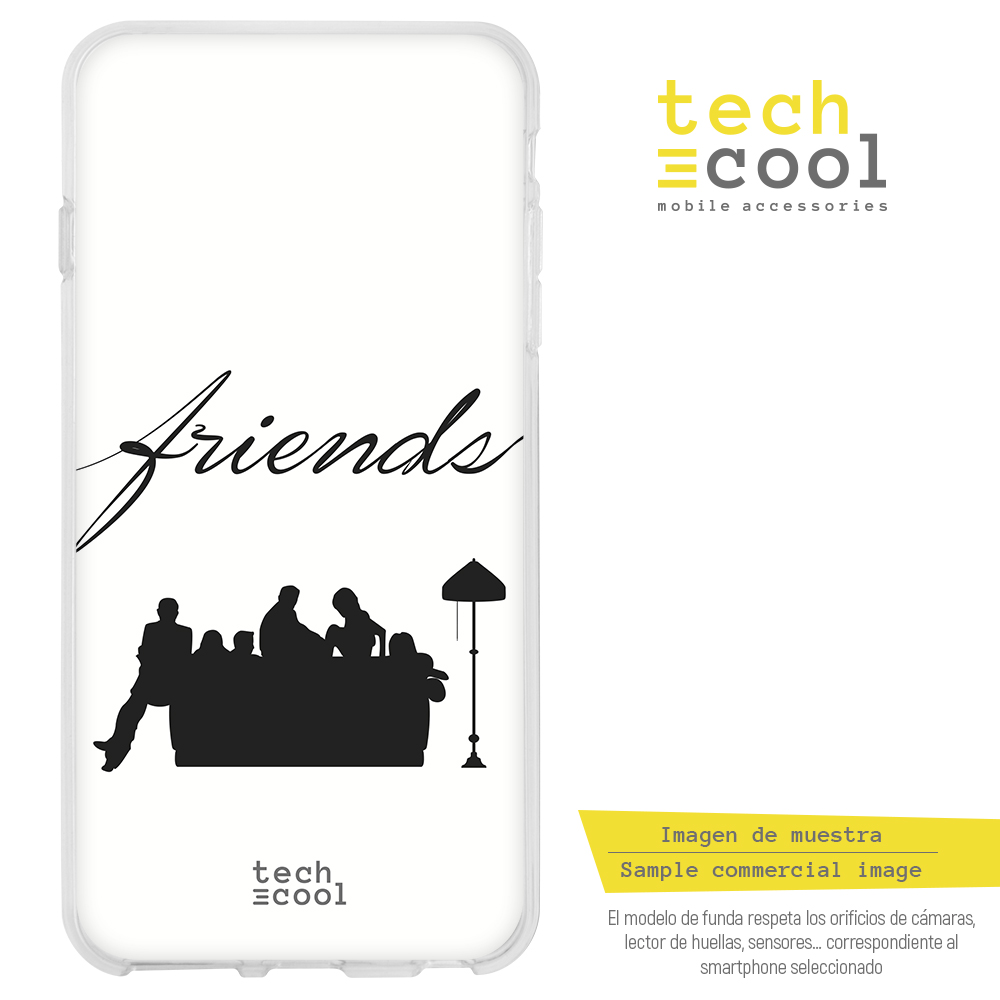 FunnyTech®Silicone stand case for Google Pixel XL L Series 2 Friends Silueta vers.1 White image