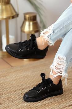 Różowe Potin czarne czarne buty damskie tanie i dobre opinie Pembe Potin Oksfordzie TR (pochodzenie) Sztuczna skóra Gumką Pasuje prawda na wymiar weź swój normalny rozmiar Na co dzień
