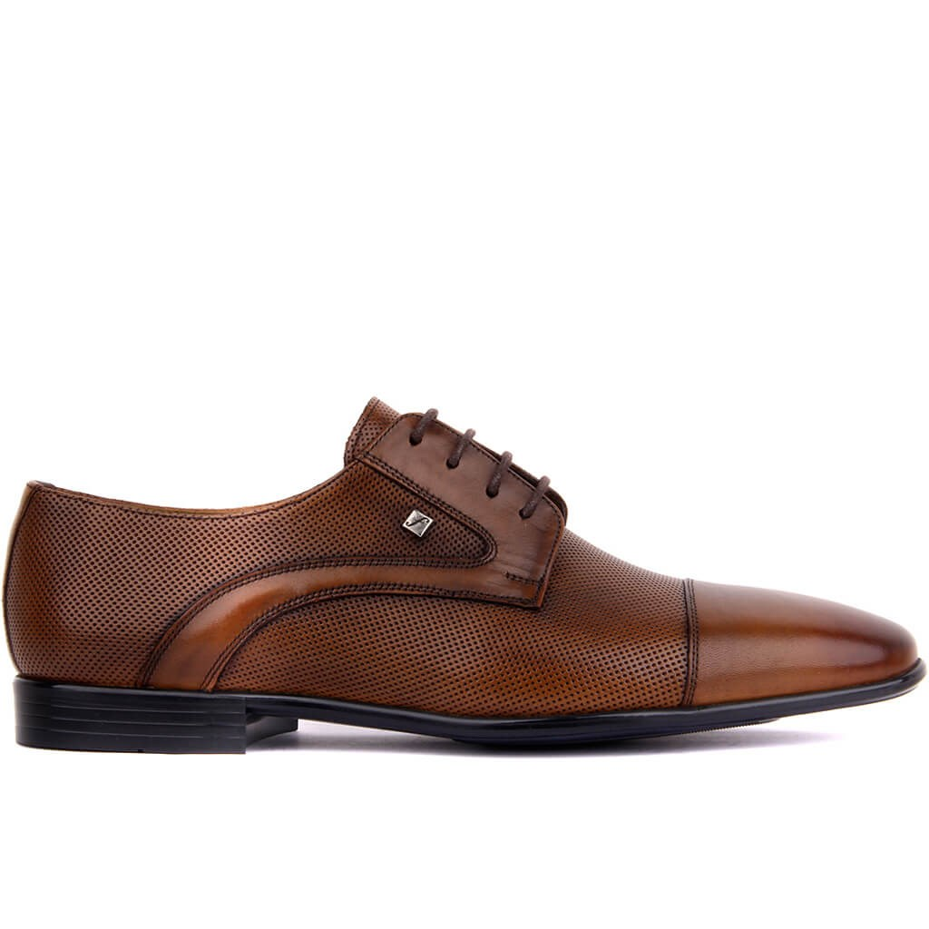 Fosco-Tan Leather Men 'S Classic Shoes