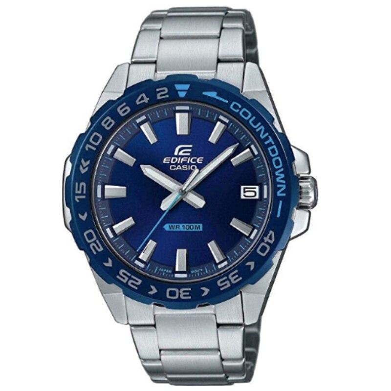 Casio Original Men Watches Fashion Top Brand Luxury 100m Waterproof Quartz Technology Men Edifice Leather Casual Watch EFV-120DB