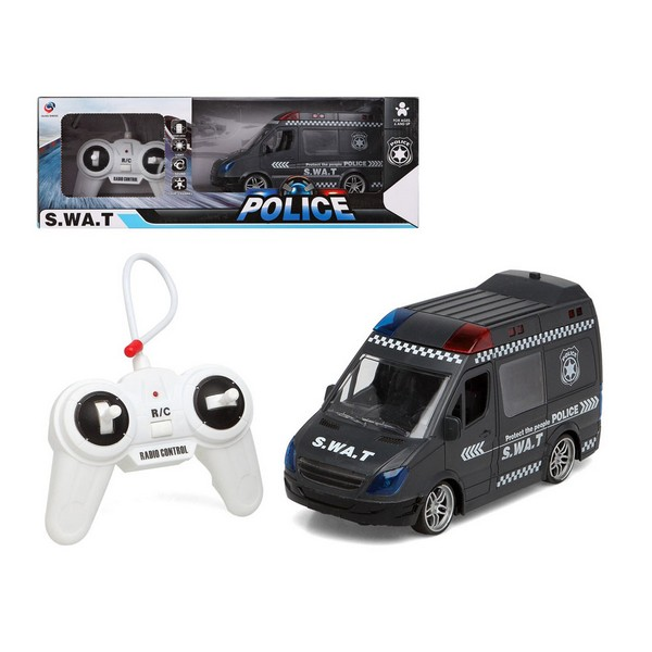 Remote-Controlled Car S.w.a.t Police Black 110975