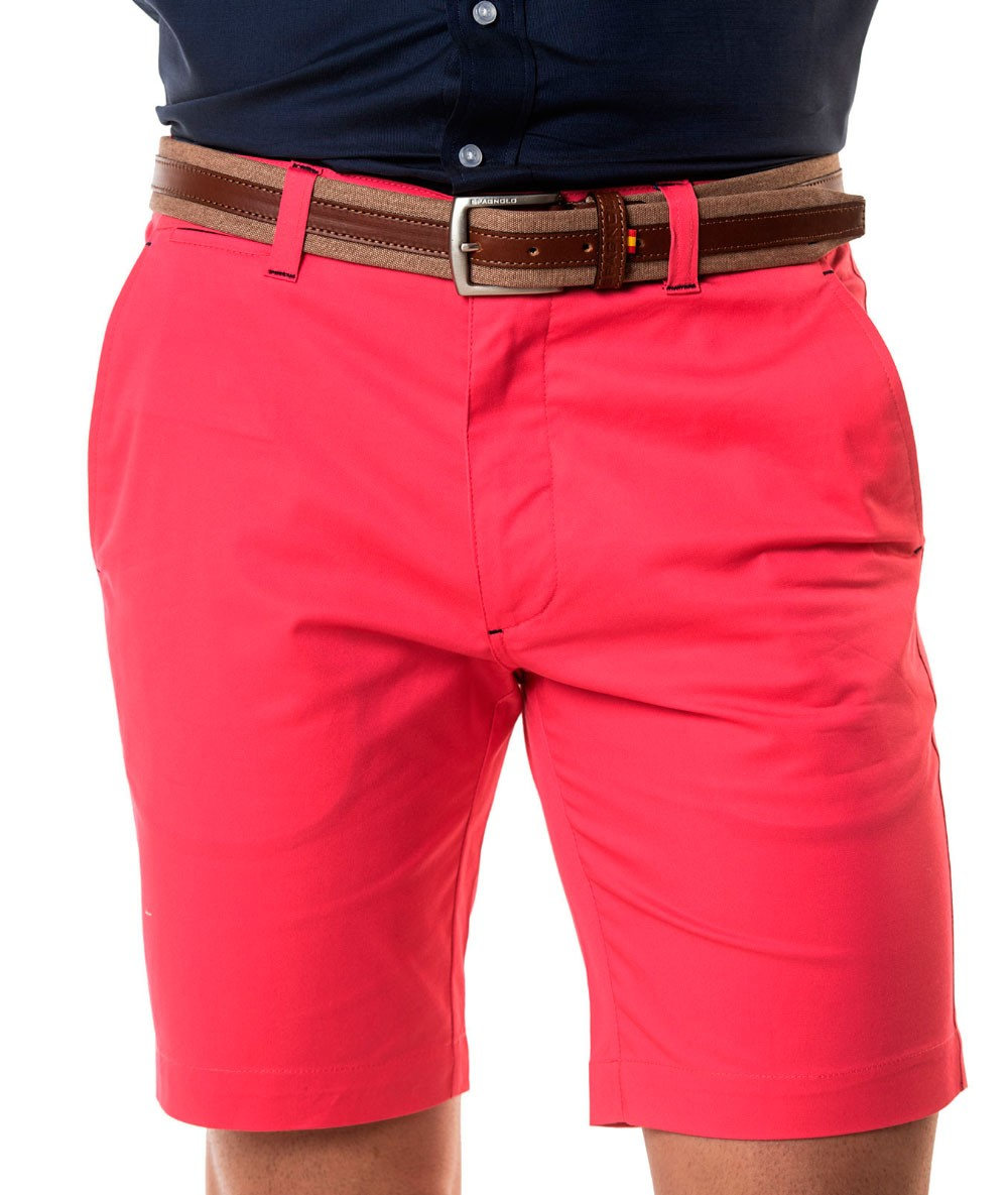 BERMUDA SPAGNOLO Gabardina Mens Shorts Cargo Color Rose Fuchsia Menswear Summer 2020