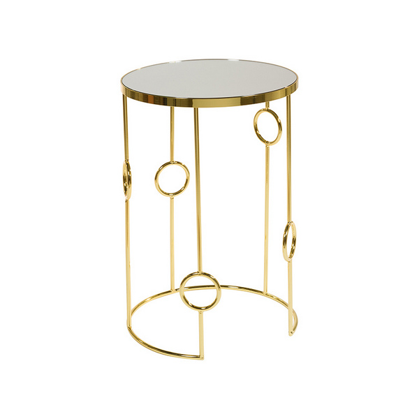 Small Side Table (41 X 41 X 60 Cm) Brass Crystal