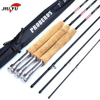 цены JIMITU 2019 NEW Fly fishing rod 7 feet 2.1 meters four high carbon high with fly fishing rod 3/4# 5/6# 7/8# fly maggot