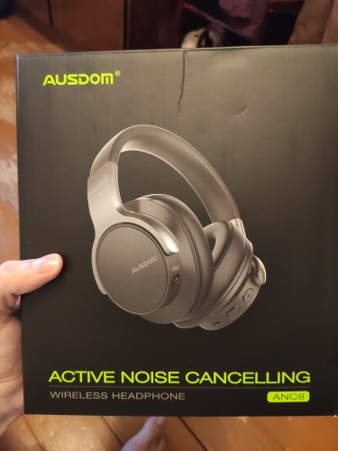 Ausdom ANC8 Active Noise Cancelling Wireless Headphones Bluetooth Headset with Super HiFi Deep Bass 20H Playtime for Travel Work Bluetooth Earphones & Headphones    - AliExpress