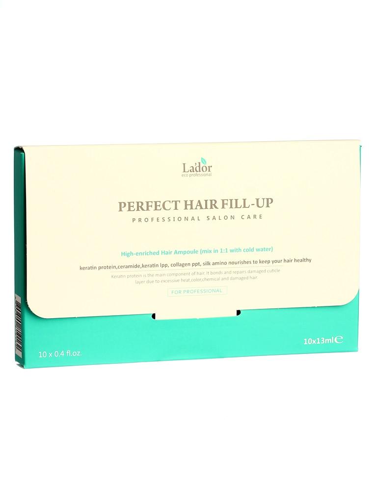 Lador perfeito cabelo enchimento 13ml x 10pc coreano cosméticos