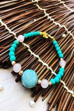 Dr Stone Doğaltaş el yapımı afrika koleksiyonu Kadın pembe kuvar 439746927