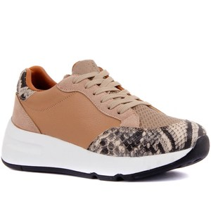 Image 3 - Moxee Women Sneakers  Crocodil Detailed Women Casual Shoes Very Comfortable Fashion Shoes Soft Famele Shoe
