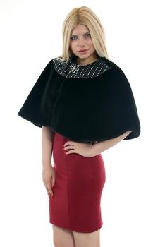 Redpoint Faux Fur (sztuczne futro) Bolero broszka prezent 446904444 tanie i dobre opinie
