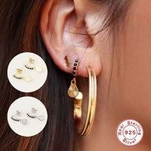 Aide 925 стерлингового серебра серьги гвоздики для женщин пирсинга