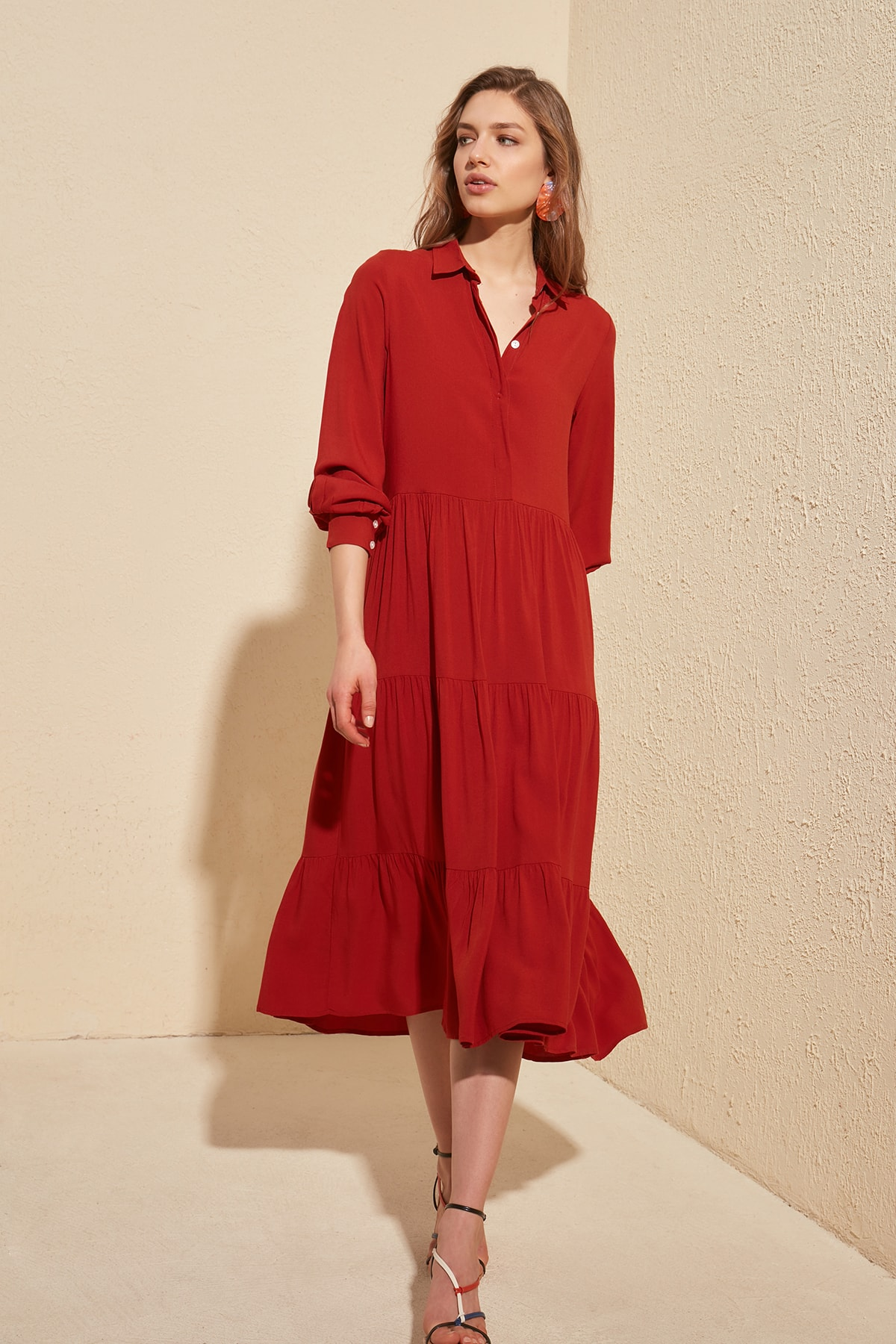 Trendyol Shirt Collar Dress TWOSS20EL1399