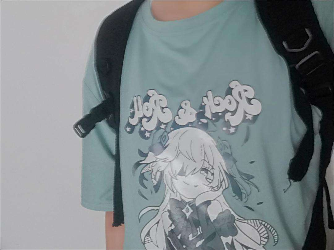 Harajuku E-girl Aesthetic T-Shirt with Anime Gothic cartoon print photo review