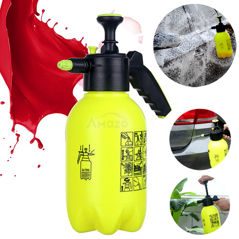 Hand Pump Foam Sprayer Hand Pressurized Foam Sprayer 2 Litre Pressure Foam Cannon Snow Foam Nozzle Carwash Car Window Cleaning