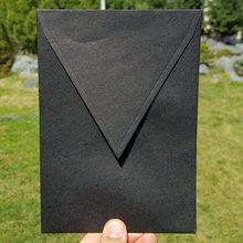 50pcs / lot Gilda Black Envelopes 140mmX200mm Patterned Paper Envelopes Post Card Envelope Colorful Greeting Cards