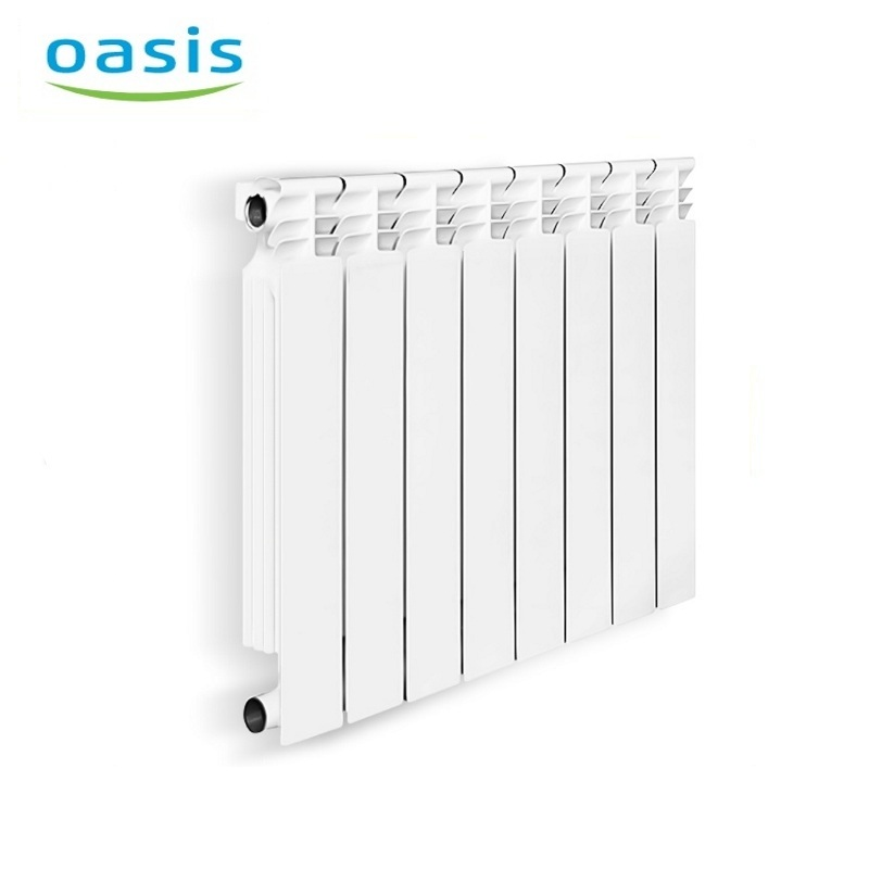 004 Bimetal Radiator Oasis 500/80/8 Electric heater air heater heating elements household radiator home energy saving 220v household electric heater rotatable energy saving head shaking heater fast heating 3 gear control electric heater eu au uk