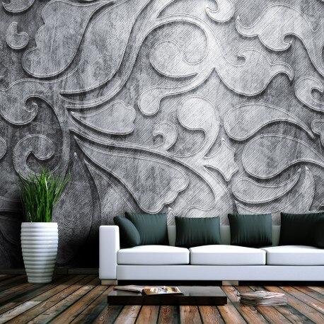 Photo Wallpaper-silver Bottom Floral